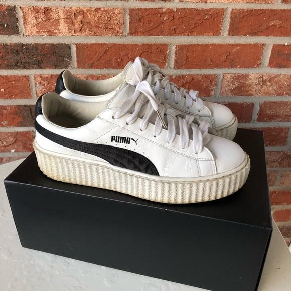 purchase cheap 6b26b d8962 Puma fenty platform creeper black/white size 7.5
